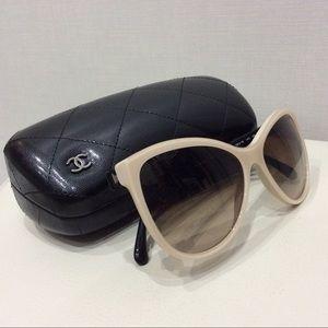 CHANEL glasses in black and cream